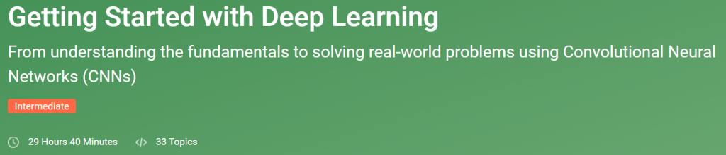 Online Deep Learning Bootcamp Free Resources
